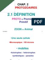 Cours Protozoaires