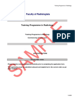 Sample Radiology Application Form