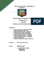 Informe Final Dendrologia I_2019-i