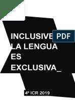 Inclusive la lengua es exclusiva