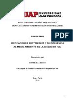PLAN DE TESIS - EDIFICACIONES SOSTENIBLES