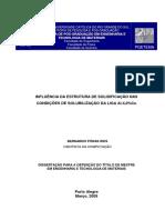 INFLUÊNCIA DA ESTRUTURA DE SOLIDIFICAÇÃO NAS  CONDIÇÕES DE SOLUBILIZAÇÃO DA LIGA Al-4,0%Cu