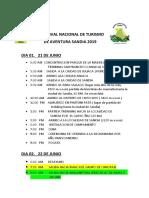 Imprimir III Festival Nacional de Turismo Itinerario