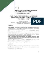 variasi kasus tumor kepala dan leher