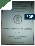 Examen de Admisión UNS 2019-II