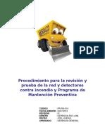 PR-PM-014 Procedimiento de Revisión Prueba Contra Incendio y Programa de Mantención Preventiva
