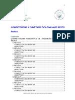 Competencias y Objetivos Lengua 6 09