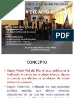 08.2019.II. Ineficacia Del Acto Jurídico