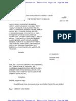 Order Compelling KBR Witness Timeline