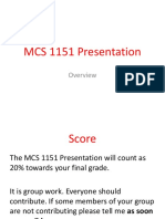 mcs 1151 presentation