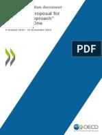 Public Consultation Document Secretariat Proposal Unified Approach Pillar One
