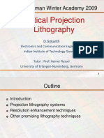 Optical projection lithography