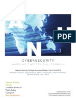 Cyber Security - Mapping the Ethical Terrain