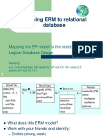3.1 Mapping ERM to Relational Model