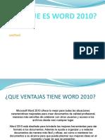 QUE ES WORD 2010 2