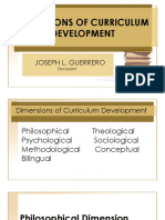Dimensions of Curriculum Development
