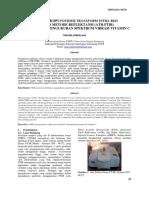 Spektroskopi Fourier Transform infraRed dengan metode reflektansi (ATR-FTIR) pada optimasi pengukuran spektrum vibrasi