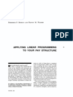 Business Horizons Volume 6 Issue 4 1963 [Doi 10.1016_0007-6813(63)90067-3] Frederick P. Rehmus; Harvey M. Wagner -- Applying Linear Programming to Your Pay Structure