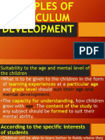 Principles of Curriculum Development