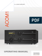ACOM 1000 Linear Amplifier Operating Manual