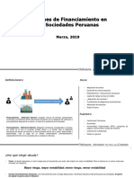 Opciones de Financiamiento Para Las Sociedades Peruanas