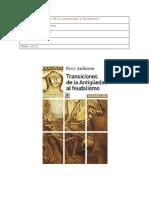 Ficha 3 Transiciones de La Antiguedad Al Feudalismo