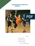 Plan de Entrenamiento Orientado a Handball
