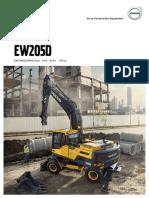 Catalogo Ficha Técnica Excavadora Hidráulica Ew205d Volvo