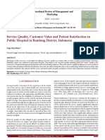 Service Quality, Customer Value and Patient Satisfaction on Public Hospital in Bandung District, Indonesia[#355811]-367527