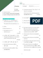 Exponents and Quadratics Review