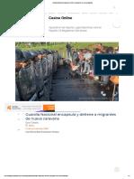 Guardia Nacional Encapsula y Detiene a Migrantes de Nueva Caravana