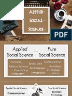 Applied Social Science