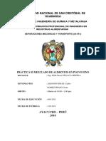 PRACTICA N° 05 MEZCA DE POLVO FINO SEPARACIONES