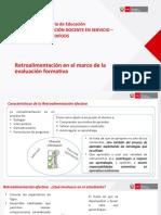 Retroalimentación en el marco de la evaluación formativa