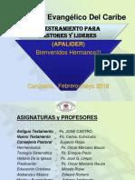 La Junta Directiva Entregó Certificados en Apalider Carupano