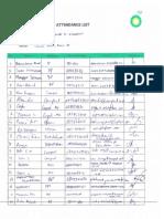 Attendance Listcs