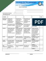 Rubrics for Documentation