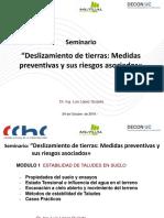 DESLIZAMIENTO DE TIERRAS MEDIAS