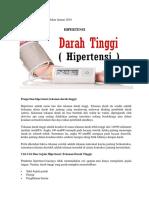 Materi Edukasi Hipertensi Bulan Januari 2018