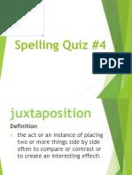 11. Spelling Quiz 4 (Term 2)