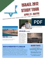 Israel 2012 Promo Flyer