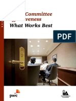 Audit Committee Effectiveness, What Works Best (PwC)