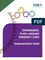 Standardized Plain Language Emergency Codes