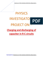 Charging & Discharging of Capacitor in RC Circuits - CBSE Class 12 Physics Investigatory Proj..