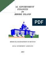 Local Government Finances in Rhode Island