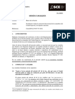 Opinión OSCE 109-12-2012 - Facultad de Evaluar a Miembros Del Comité Especial