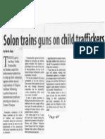 Manila Standard, Oct. 14, 2019, Solon trains guns on child traffickers.pdf