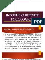Informe o reporte psicologico