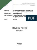 Memoriu Tehnic Structura_DTAC