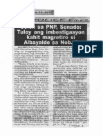 Police Files, Oct. 14, 2019, Solon sa PNP, Senado tuloy ang imbestigasyon kahit magretiro si Abayalde sa Nob. 8.pdf